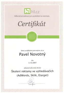 analytics certifikat